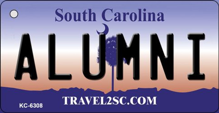 Alumni South Carolina License Plate Key Chain KC-6308