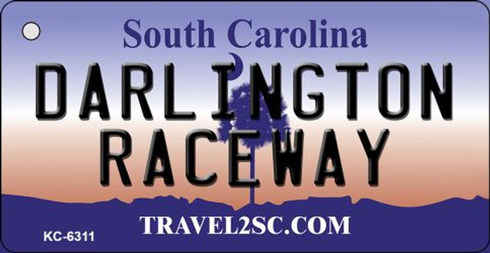 Darlington Raceway South Carolina License Plate Key Chain KC-6311