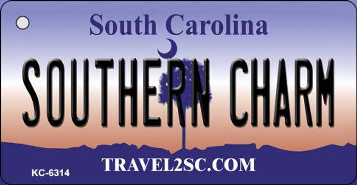 Southern Charm South Carolina License Plate Key Chain KC-6314
