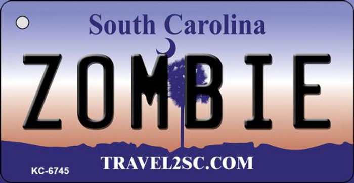 Zombie South Carolina License Plate Key Chain KC-6745