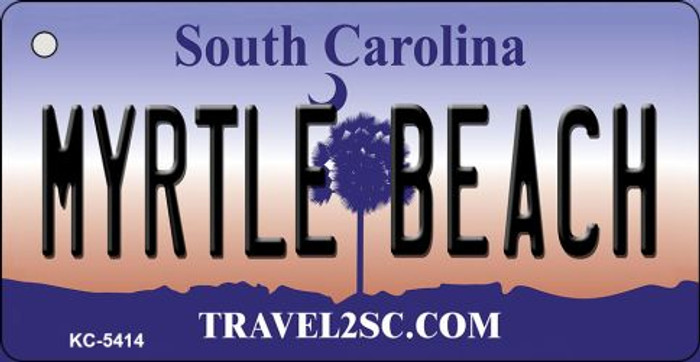 Myrtle Beach South Carolina License Plate Key Chain KC-5414