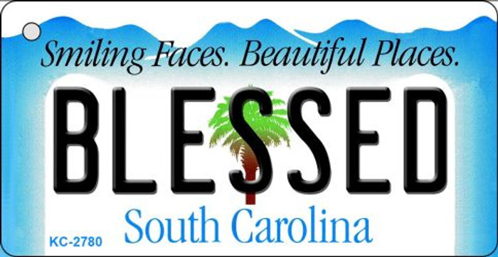 Blessed South Carolina License Plate Key Chain KC-2780