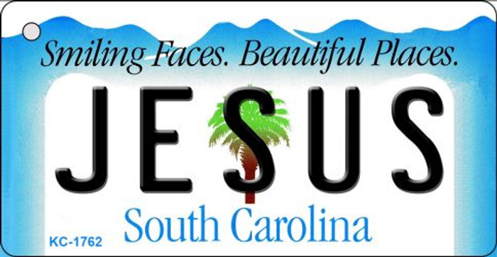 Jesus South Carolina License Plate Key Chain KC-1762