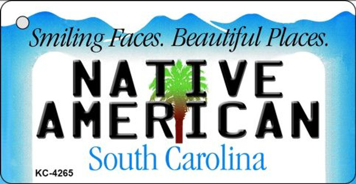 Native American South Carolina License Plate Key Chain KC-4265