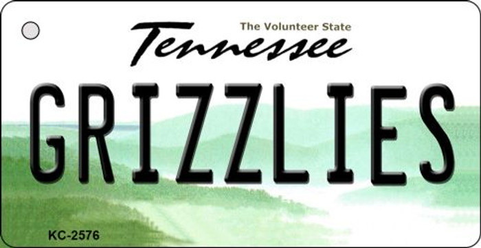 Grizzlies Tennessee State License Plate Key Chain KC-2576