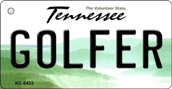 Golfer Tennessee License Plate Key Chain KC-6433