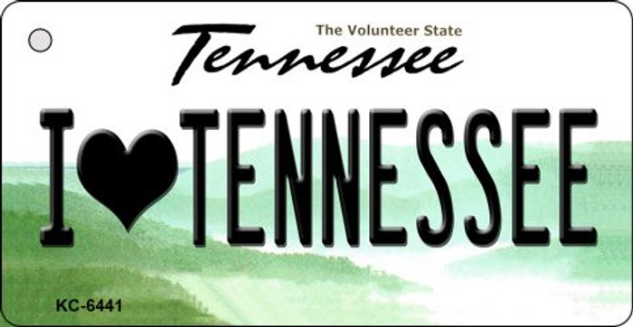 I Love Tennessee License Plate Key Chain KC-6441