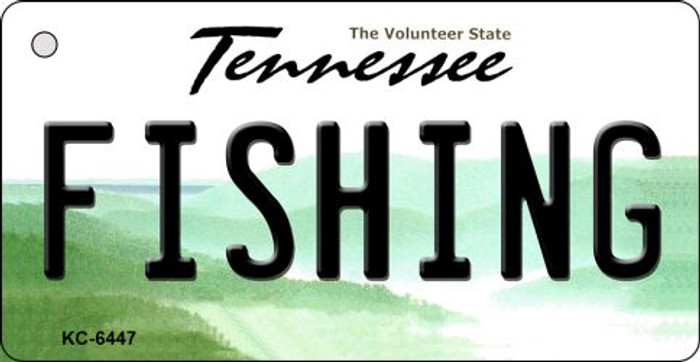 Fishing Tennessee License Plate Key Chain KC-6447