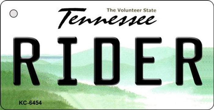 Rider Tennessee License Plate Key Chain KC-6454