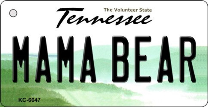 Mama Bear Tennessee License Plate Key Chain KC-6647