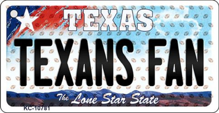 Texans Fan Texas State License Plate Key Chain KC-10781