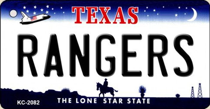 Rangers Texas State License Plate Key Chain KC-2082