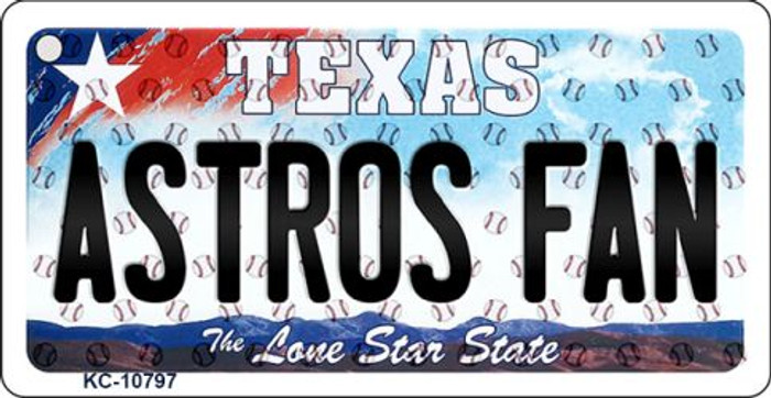 Astros Fan Texas State License Plate Key Chain KC-10797