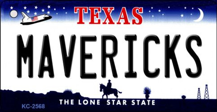 Mavericks Texas State License Plate Key Chain KC-2568