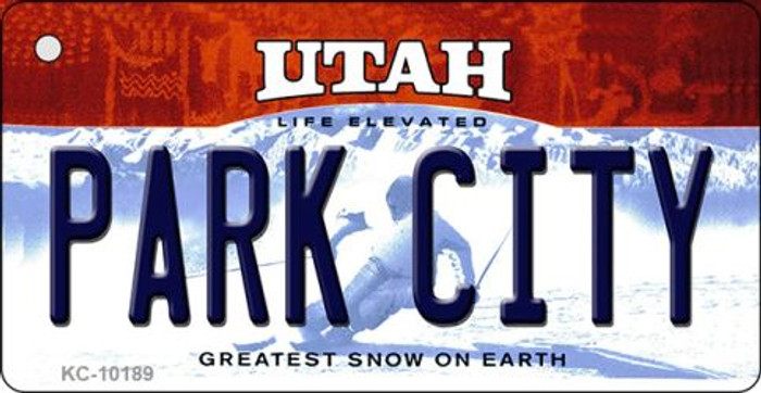 Park City Utah State License Plate Key Chain KC-10189