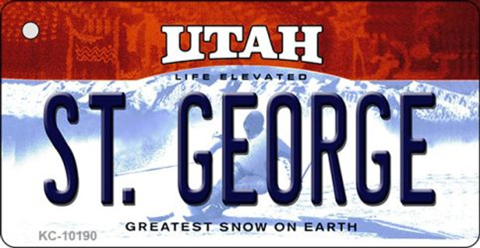 St. George Utah State License Plate Key Chain KC-10190