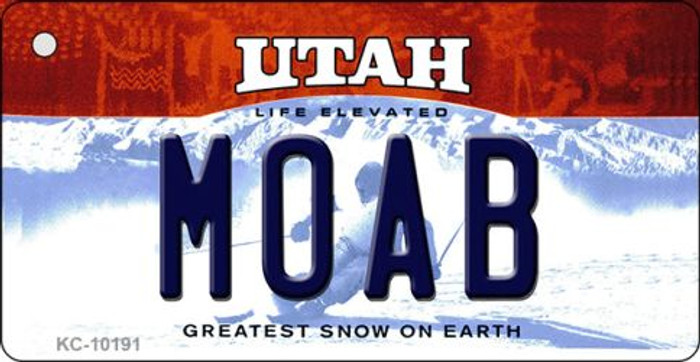 Moab Utah State License Plate Key Chain KC-10191