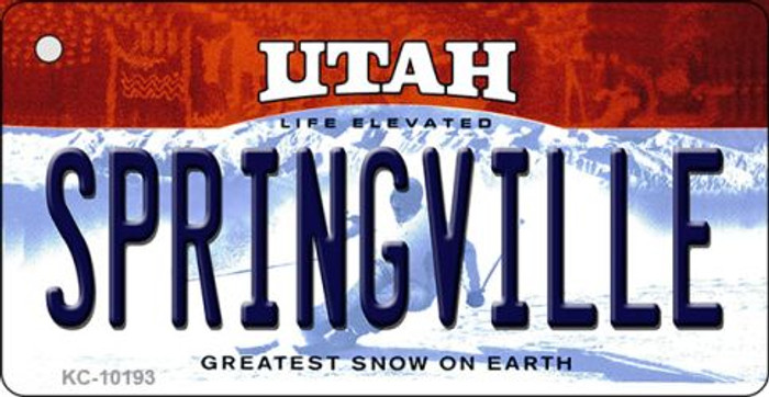 Springville Utah State License Plate Key Chain KC-10193