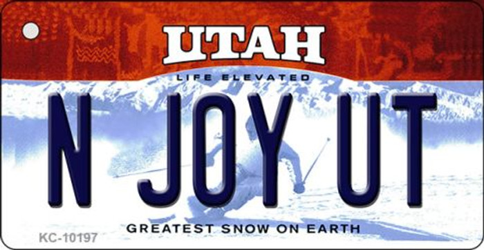 N Joy UT Utah State License Plate Key Chain KC-10197