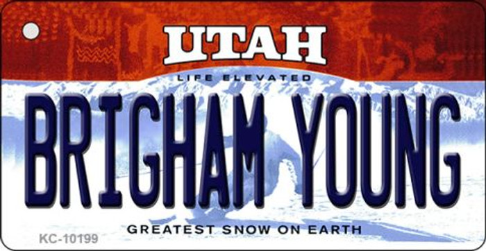 Brigham Young Utah State License Plate Key Chain KC-10199