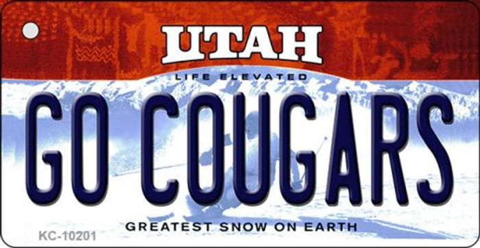 Go Cougars Utah State License Plate Key Chain KC-10201