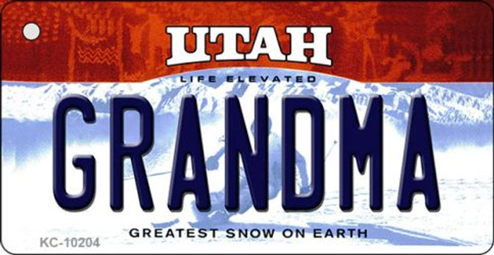 Grandma Utah State License Plate Key Chain KC-10204