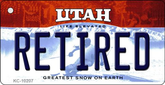 Retired Utah State License Plate Key Chain KC-10207