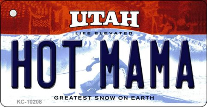 Hot Mama Utah State License Plate Key Chain KC-10208
