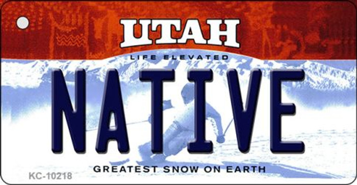 Native Utah State License Plate Key Chain KC-10218