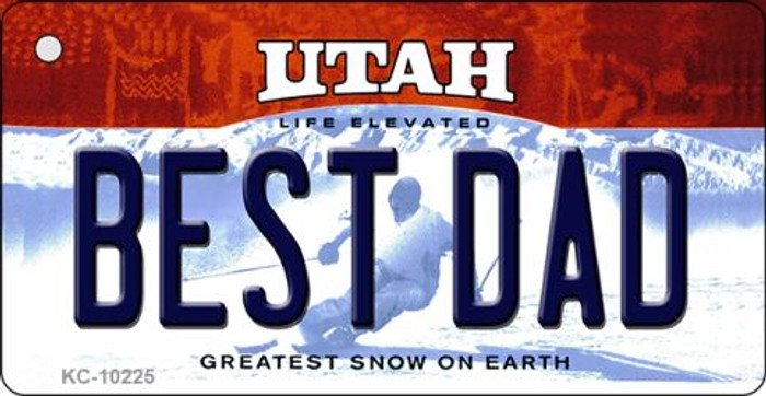Best Dad Utah State License Plate Key Chain KC-10225