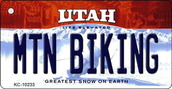 Mtn Biking Utah State License Plate Key Chain KC-10233