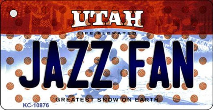 Jazz Fan Utah State License Plate Key Chain KC-10876