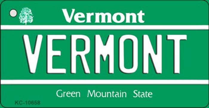 Vermont License Plate Novelty Key Chain KC-10658