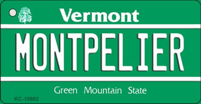 Montpelier Vermont License Plate Novelty Key Chain KC-10662