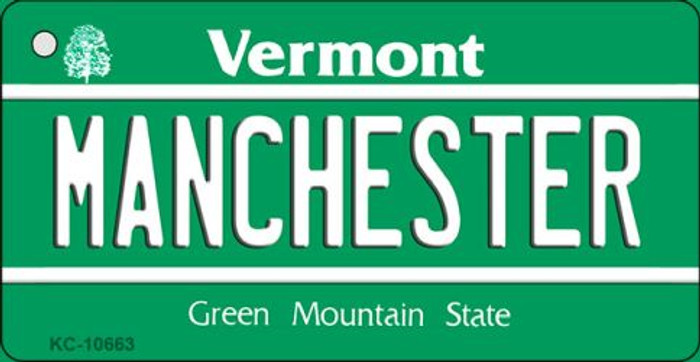 Manchester Vermont License Plate Novelty Key Chain KC-10663