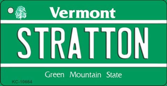Stratton Vermont License Plate Novelty Key Chain KC-10664