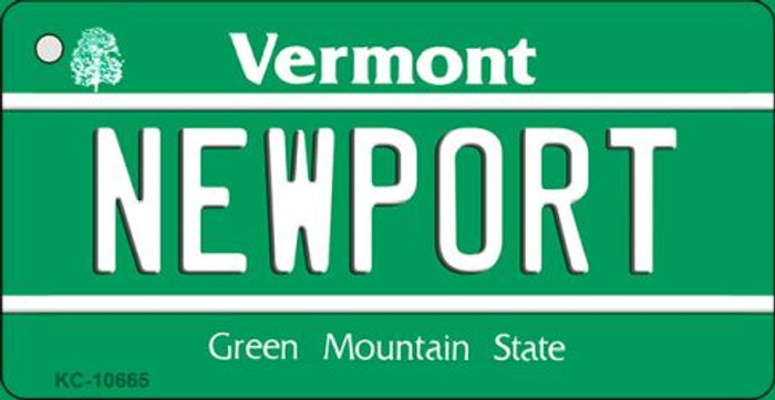 Newport Vermont License Plate Novelty Key Chain KC-10665