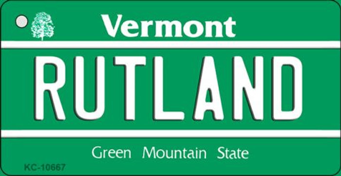 Rutland Vermont License Plate Novelty Key Chain KC-10667