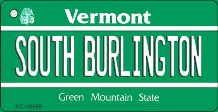 South Burlington Vermont License Plate Novelty Key Chain KC-10669