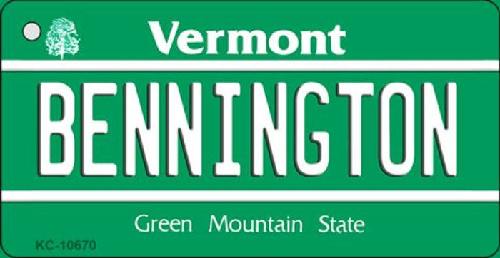 Bennington Vermont License Plate Novelty Key Chain KC-10670