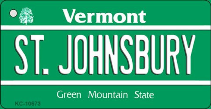 St Johnsbury Vermont License Plate Novelty Key Chain KC-10673