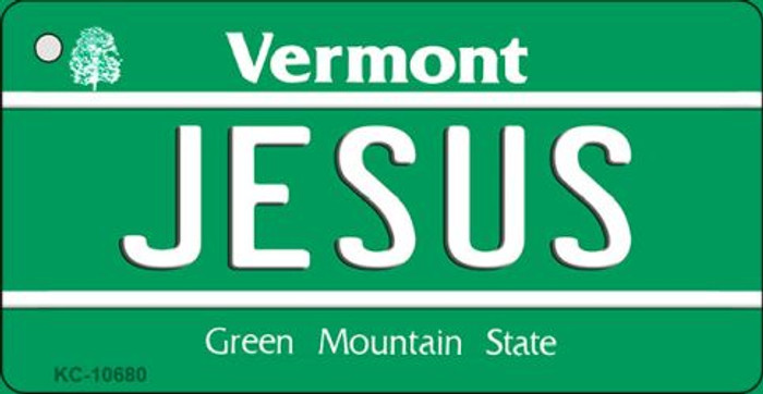 Jesus Vermont License Plate Novelty Key Chain KC-10680