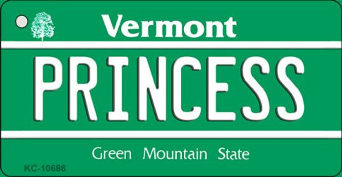 Princess Vermont License Plate Novelty Key Chain KC-10686