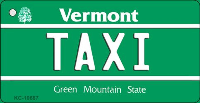 Taxi Vermont License Plate Novelty Key Chain KC-10687