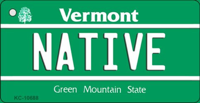 Native Vermont License Plate Novelty Key Chain KC-10688