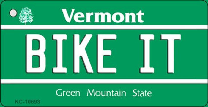 Bike It Vermont License Plate Novelty Key Chain KC-10693