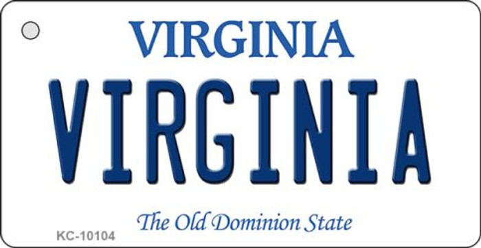 Virginia State License Plate Key Chain KC-10104