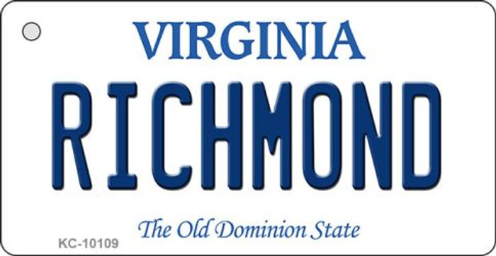 Richmond Virginia State License Plate Key Chain KC-10109