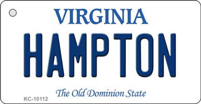 Hampton Virginia State License Plate Key Chain KC-10112