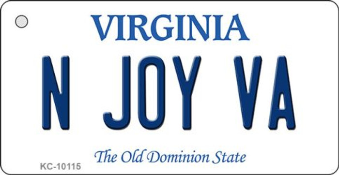 N Joy VA Virginia State License Plate Key Chain KC-10115